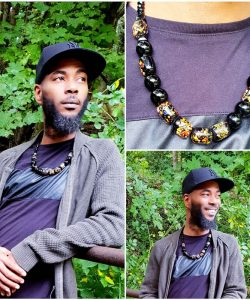 Men's Hand Painted Krobo Necklace