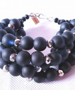 Men's Black Bead Bracelet
